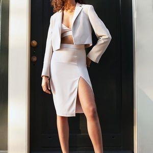 MAritzia Babaton Aria Denude Slitted Skirt